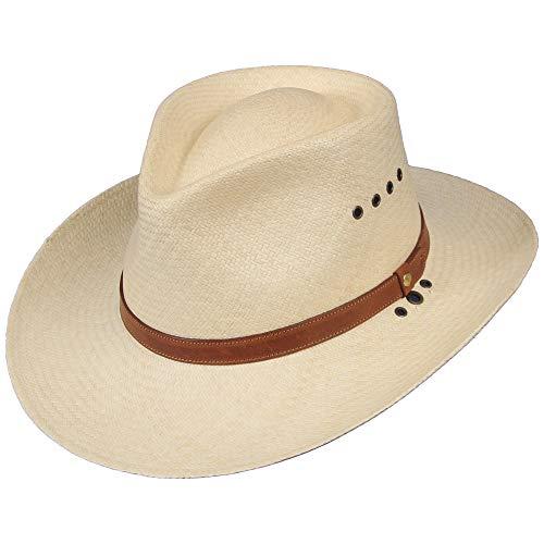 Genuine Hat Panama - Genuine Panama Hat Natural Color Mens 3 inch Brim USA Made No. 2 Straw Size XLarge