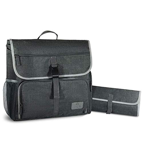 CleverPapi Mens Baby Diaper Bag w Changing Pad - Baby Messenger Diaper Bag  for Cool Dads! 1f428f9a53aff