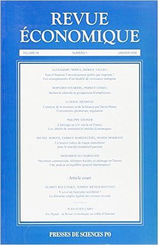 Téléchargement Revue économique, N° 59 : pdf, epub ebook