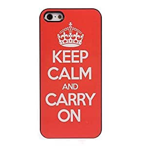 MOM Keep Calm and Carry On Design Aluminum Hard Case for iPhone 4/4S