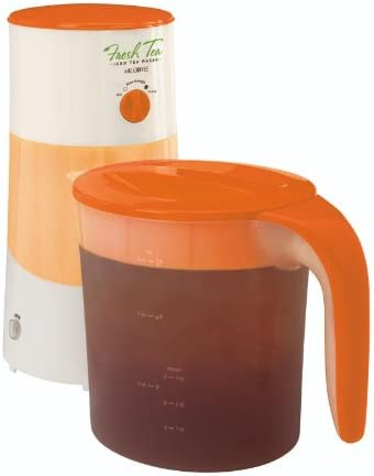 Mr. Coffee TM70AE Fresh Iced Tea Maker, 3-Quart, Amber Orange