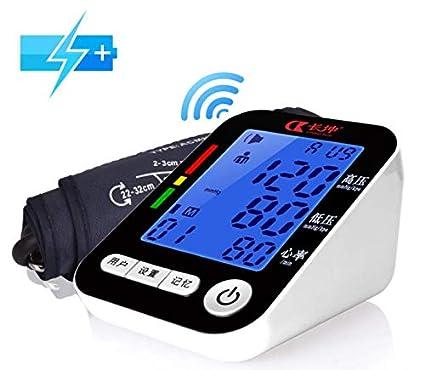 RENYAYA Brazo Tipo Electrónico Tensiómetro De Difusión De Voz Medidor De Presión Arterial De Tres Colores