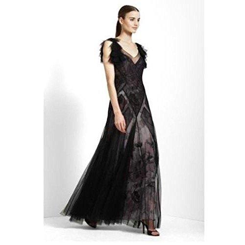 BCBGMAXAZRIA BCBG Maxazria Maggie Mauve Rose Tulle Silk Dress