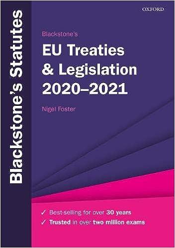 Book's Cover of Blackstone's EU Treaties & Legislation 2020-2021 (Anglais) Broché – 23 juillet 2020