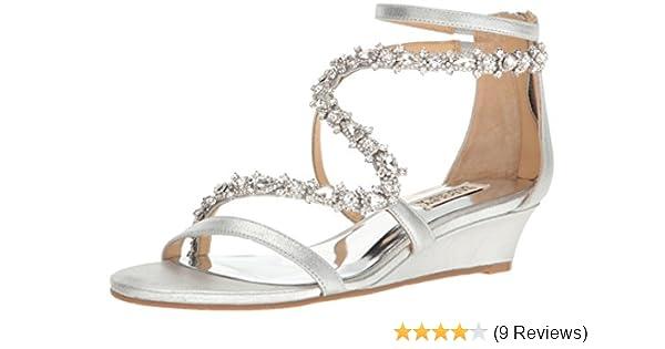 0a7722a2d38 Amazon.com: Badgley Mischka Women's Belvedere Wedge Sandal: Shoes