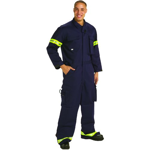 TOPPS SAFETY CO12-3905-Short//42-44 Indura Extrication Suit Navy Blue 42-44 42-44 Large Short