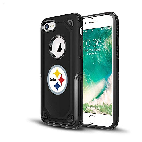 Steelers iPhone 6s Tough Electroplate Case, 3 in 1 Ultra-thin Smooth Anti-Scratch PC Hard Back Case Full Cover for iPhone 6 / 6s - Black