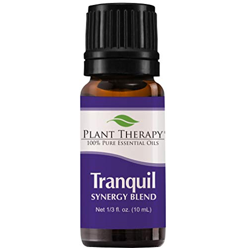 Plant Therapy Essential Oil | Tranquil Synergy Blend | Stress Relief, Sleep, Peace & Calming Blend | 100% Pure, Undiluted, Natural Aromatherapy, Therapeutic Grade | 10 Milliliter (1/3 Ounce)