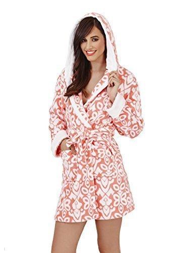 Loungeable, Mujer Deluxe polar súper suave de casa Pijama Bata, coral, grande (