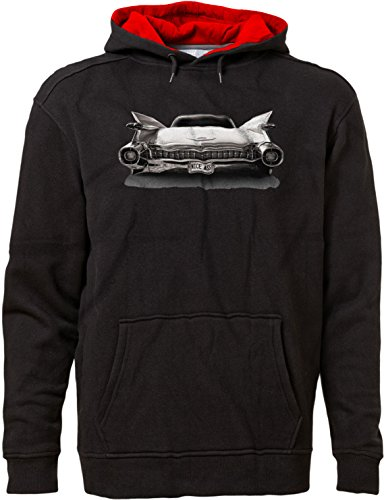 BSW Men's Nice Ass 1959 Cadillac Luxury V8 American Premium Hoodie 2XL Blk/Red ()