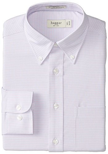Haggar Regular Fit Gingham Oxford Button Front