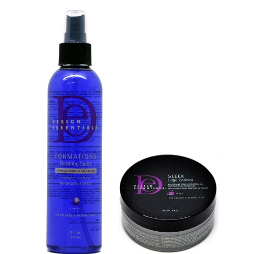 Edge Finishing (Design Essentials Sleek Edge Control Net Wt. 2.3 Oz & Formations Finishing Spritz 8 Fl. Oz. / 237 Ml)