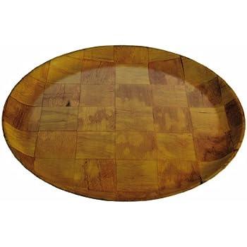 Amazon Com Crestware 14 Inch Crest Wood Plate Dinner