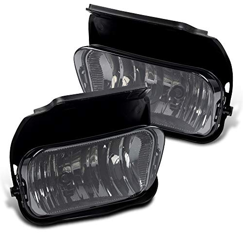 New OE Style Bumper Driving Fog Lights+Bulbs For 2003-2006 Chevy Silverado 1500/1500HD/2500/2500HD/3500 Lamp Replacement Left and Right Smoke - Fog Replacement Lamp Oe
