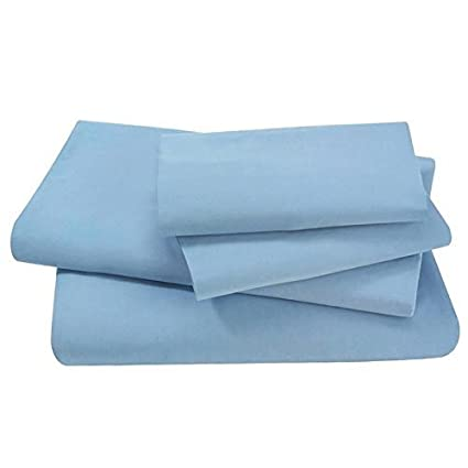 Swan Comfort #1 Bed Sheet Set Highest Quality Brushed Microfiber 1800 Bedding, Hypoallergenic, Queen, Light Blue
