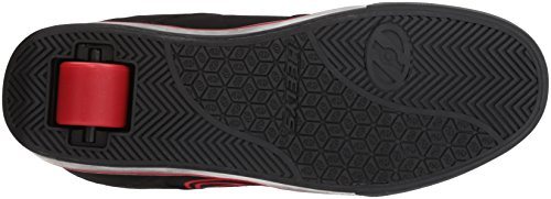 Heelys Mens Motion Plus Fashion Sneaker Nero / Rosso