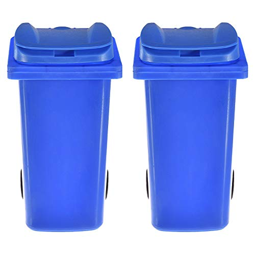ack Mini Curbside Trash Recycling Bin Plastic Waste Bins Pencil Pen Holder Desk Storage Organizer for Office Home School ()