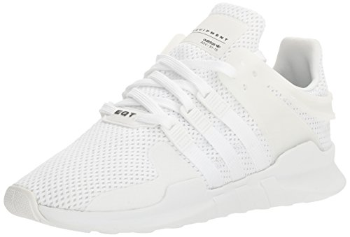 adidas Originals Men's Equipment Support Adv Fashion Sneaker, White/White/Black, 9 M - Stripe Head Socks