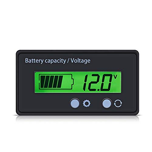 ROPALIA 12V-48V LCD Battery Capacity Voltage Tester Indicator Lead-Acid Voltmeter Meter