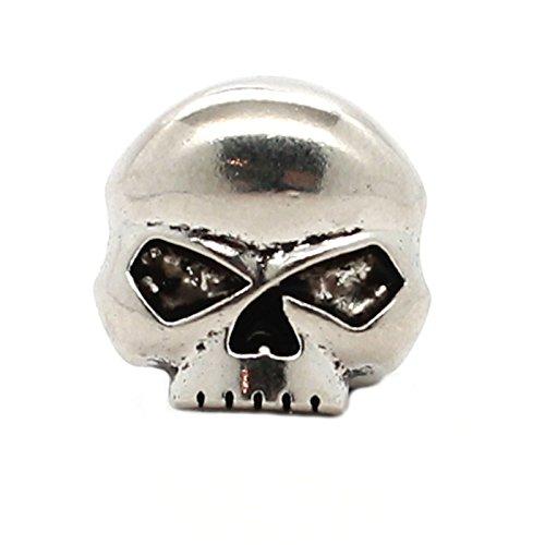 Skull Nickel Decorative Line 24 Snap Cap 3/4