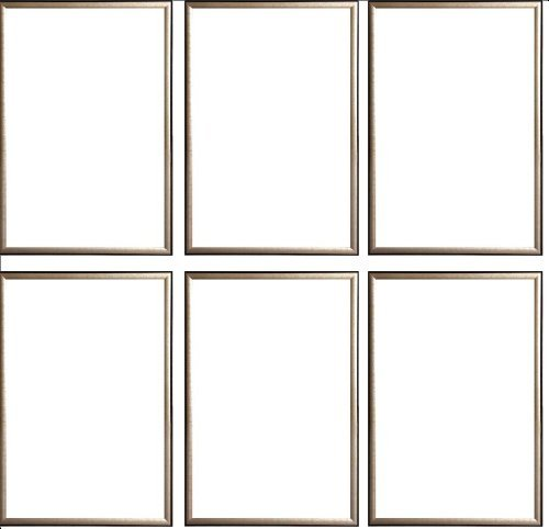 Six(6) Wood Metallic Gold Finish Poster Frame 24x36 or 36 x 24