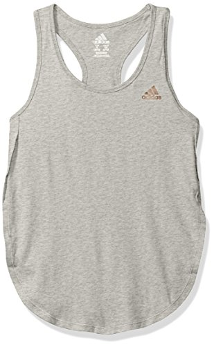 adidas Big Girls' Active Tank Tops, Heather Grey, L