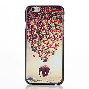 MOM Landing an Elephant Pattern Plastic Hard Cover for iPhone 6 Plus