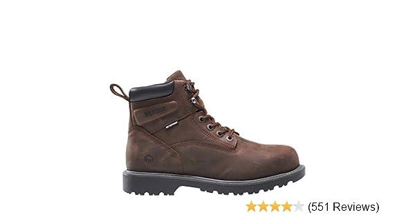 5cbd53b8686 Wolverine Men's Floorhand 6 Inch Waterproof Steel Toe Work Shoe