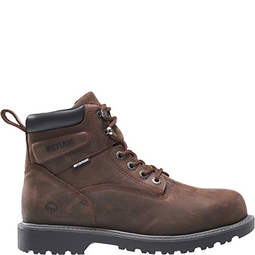 Wolverine Men's Floorhand 6 Inch Waterproof Soft Toe-M Work Boot, Dark Brown, 9.5 M US