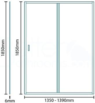 Para mampara de ducha de Walk In deslizante de esquina 1400 alcoba hueco 6 mm Panel