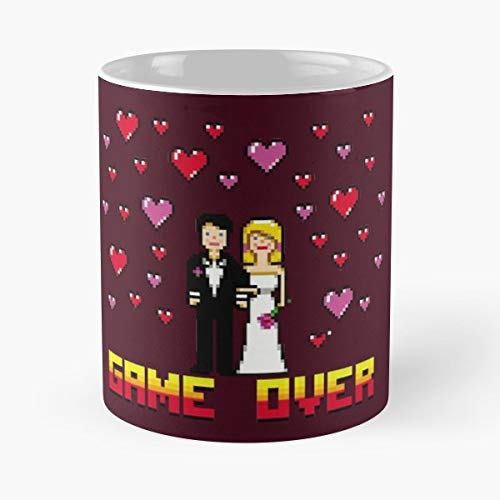 Pixel Art Angler Bachelor Party Bachelorette - 11 Oz Coffee Mugs Ceramic The Best Gift For Holidays, Item Use Daily.