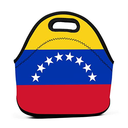 FFOOD Flag of Venezuela Portable Carry Insulated Lunch Bag - Large Reusable Lunch Tote Bags for Women, Teens, Girls, Kids,...