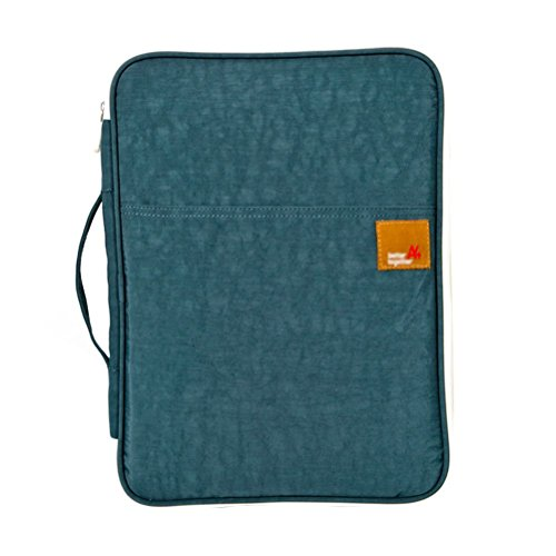 Traditional Arts Student Business Multi-functional Padfolio Portfolio with Inside Pocket,for Pads Letter A4 Paper Waterproof Zipper Tote Case Bag Organizer (Dark Blue)