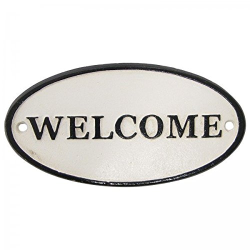 Entrada Cartel Welcome Bienvenida Hierro Cartel para puerta ...