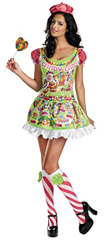 UHC Women's Comical Deluxe Candyland Sassy Adults Fancy Halloween Costume, M (8-10)