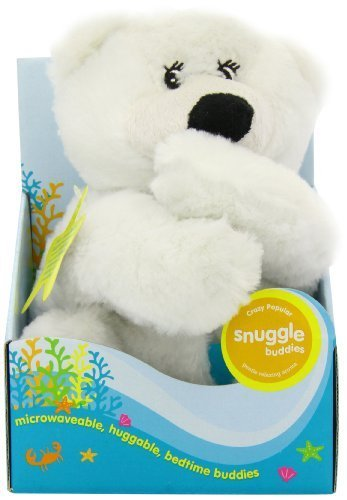 Natural Wheat Bag By Crazy Pop Snuggle Buddies Polar Bear Toy by Blooming Surprise (Bag Buddy Bear)