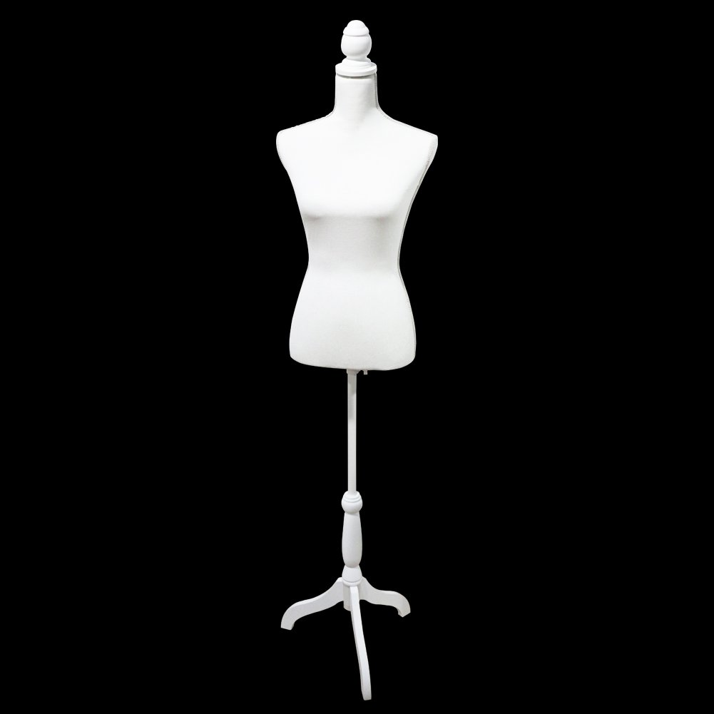 HYNAWIN Female Dress Form Mannequin Torso Body with Black Adjustable Tripod Stand Dress Jewelry Display (Blue)