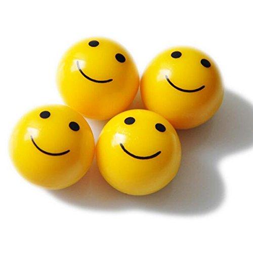 4pcs/set Mini Emoticon Plastic Round Smile Smiley Ball Face Expression Shape Car Tire Caps Auto Wheel Tyre Air Valve Dust Covers Lexitek - Shape What Face