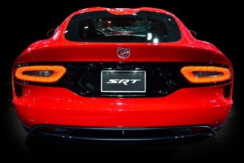 Poster of Dodge SRT Viper GTS Red Rear HD 54 X 36 Inch Print