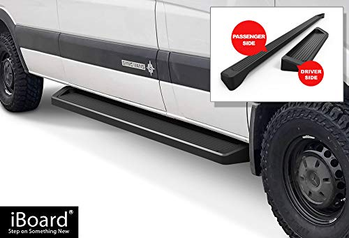 APS iBoard Running Boards (Nerf Bars Side Steps Step Bars) Compatible with 2007-2009 Dodge Sprinter Full Size Van & 10-19 Mercedes-Benz Sprinter (Black Powder Coated Running Board - Dodge Sprinter 2008 Van