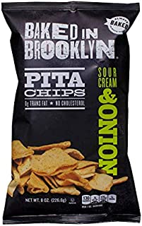 product image for Baked In Brooklyn Pita Chips Sour Cream & Onion 8 oz (pack of 12)