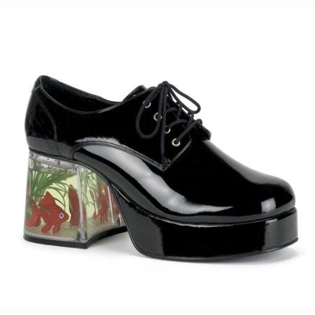 [Funtasma Men's Pimp Slip-On Loafer,White,Medium/10-11 M US] (Halloween Costumes Platform Shoes)