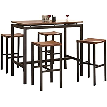 Coaster Home Furnishings 150097 5 Piece Casual Dining Room Set, Black