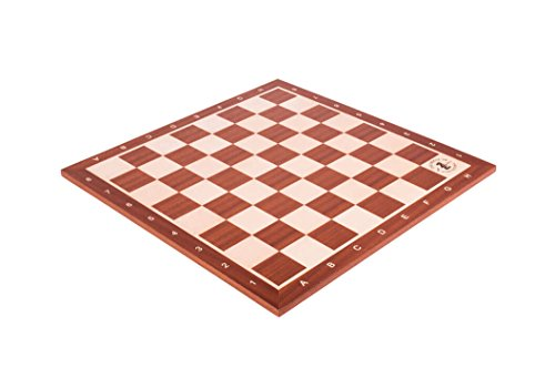 Mahogany & Maple Wooden Tournament Chess Board - 2.25