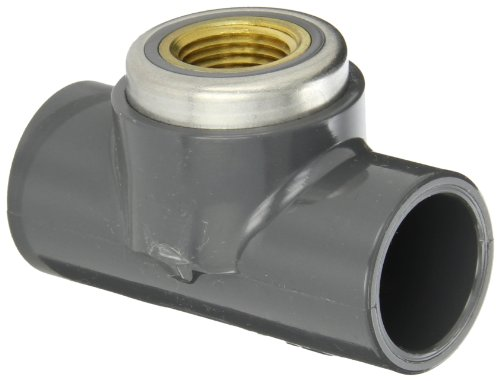 80 Gray Tee Pvc Socket - Spears 802-BR Series PVC Pipe Fitting, Tee, Schedule 80, Gray, 3/4