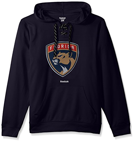 fan products of NHL Florida Panthers Adult Men Team Crest Performance Fleece Hockey Hood,Large,Navy