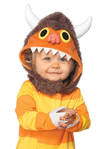Leg Avenue Baby's Where The Wild Things Are Carol Costume, Brown/Orange, 12-18 Months -