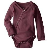 L'ovedbaby Unisex-Baby Organic Cotton Kimono Long Sleeve Bodysuit, Eggplant, ...