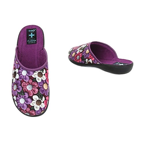 Pantoufles Violet Chaussons Ital Baskets design Femme Chaussures Plat Multi Mode xwa74WOq