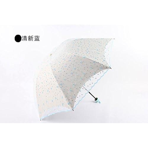 GT Manuel parapluie 3 Mode Parapluie pliant parapluie pluie broderie créative, Sturdy Windproof Parapluie de l'écran solaire anti-UV